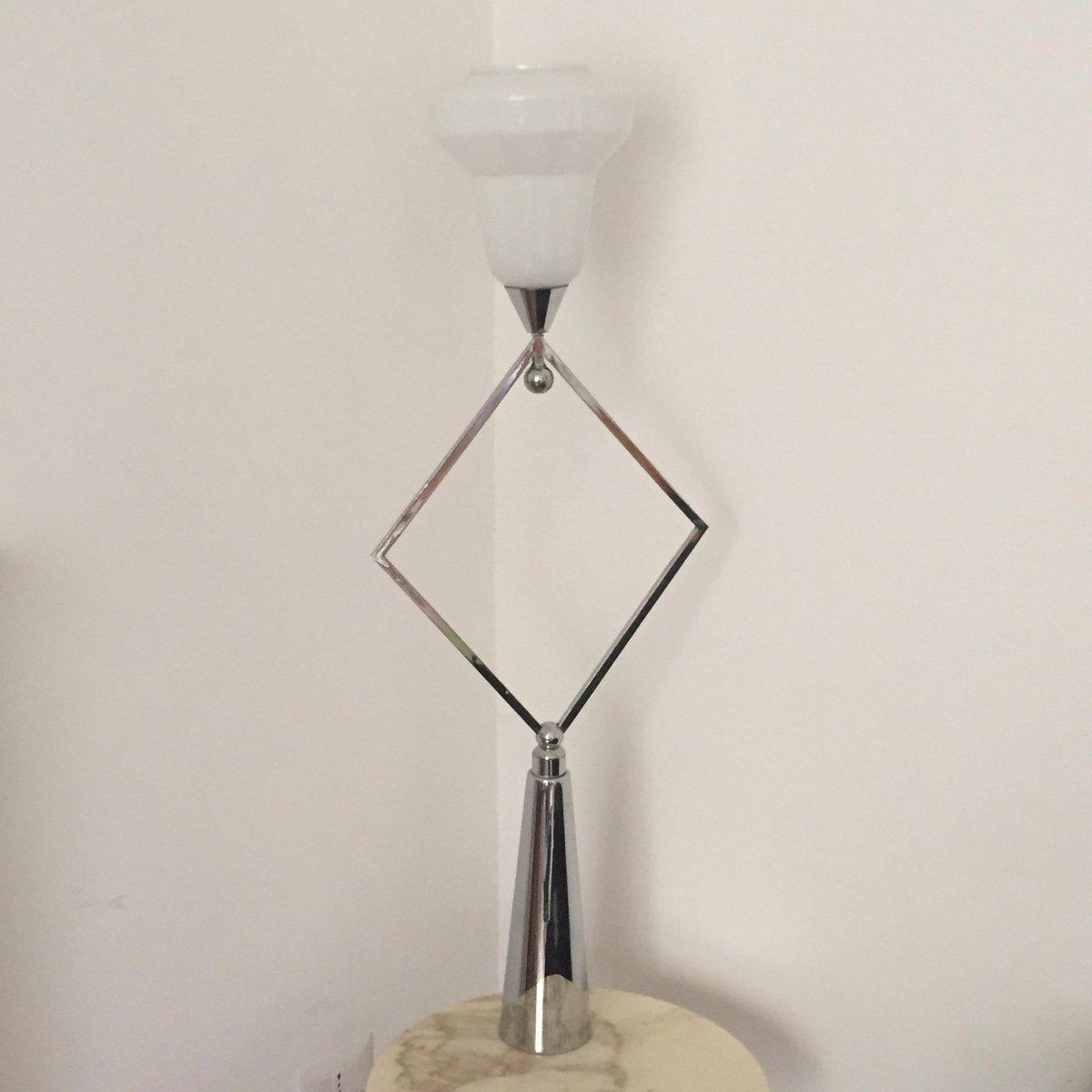 franz sische art deco lampe aus metall glas bei pamono kaufen. Black Bedroom Furniture Sets. Home Design Ideas
