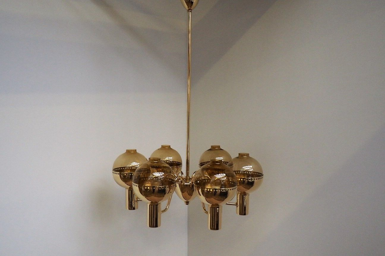 Swedish patricia brass chandelier from hans agne jakobsson 1960s price per piece arubaitofo Image collections