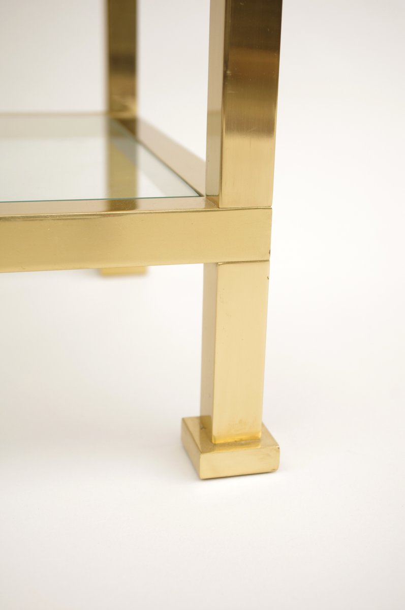vergoldeter messing beistelltisch 1970er bei pamono kaufen. Black Bedroom Furniture Sets. Home Design Ideas