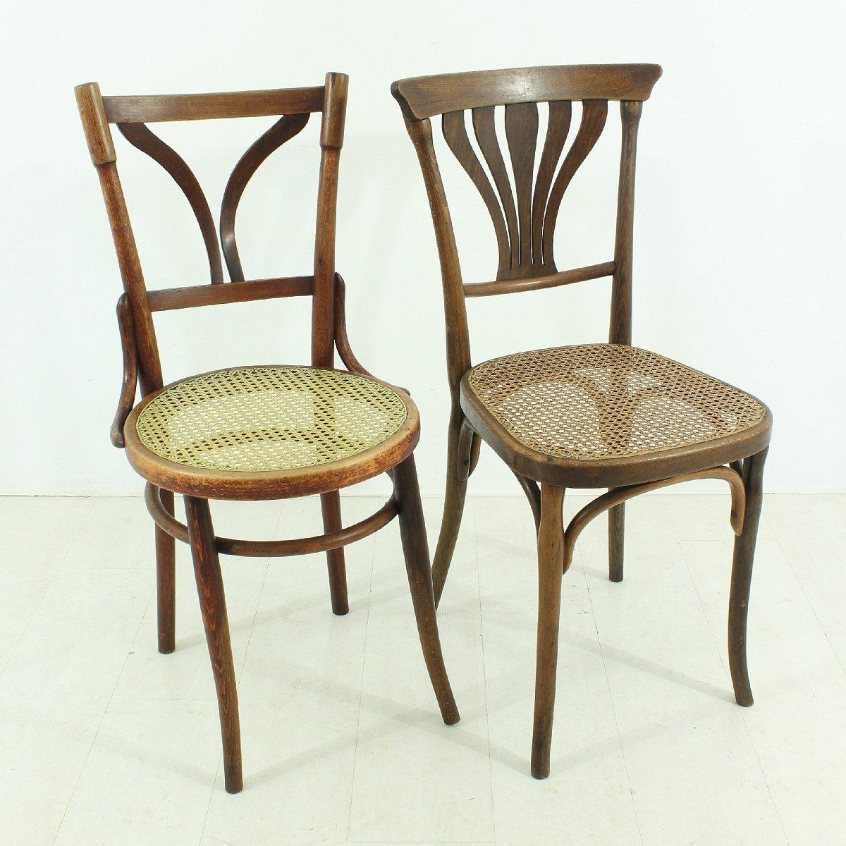 Antique Bentwood Bistro Chairs, Set of 2 - Antique Bentwood Bistro Chairs, Set Of 2 For Sale At Pamono