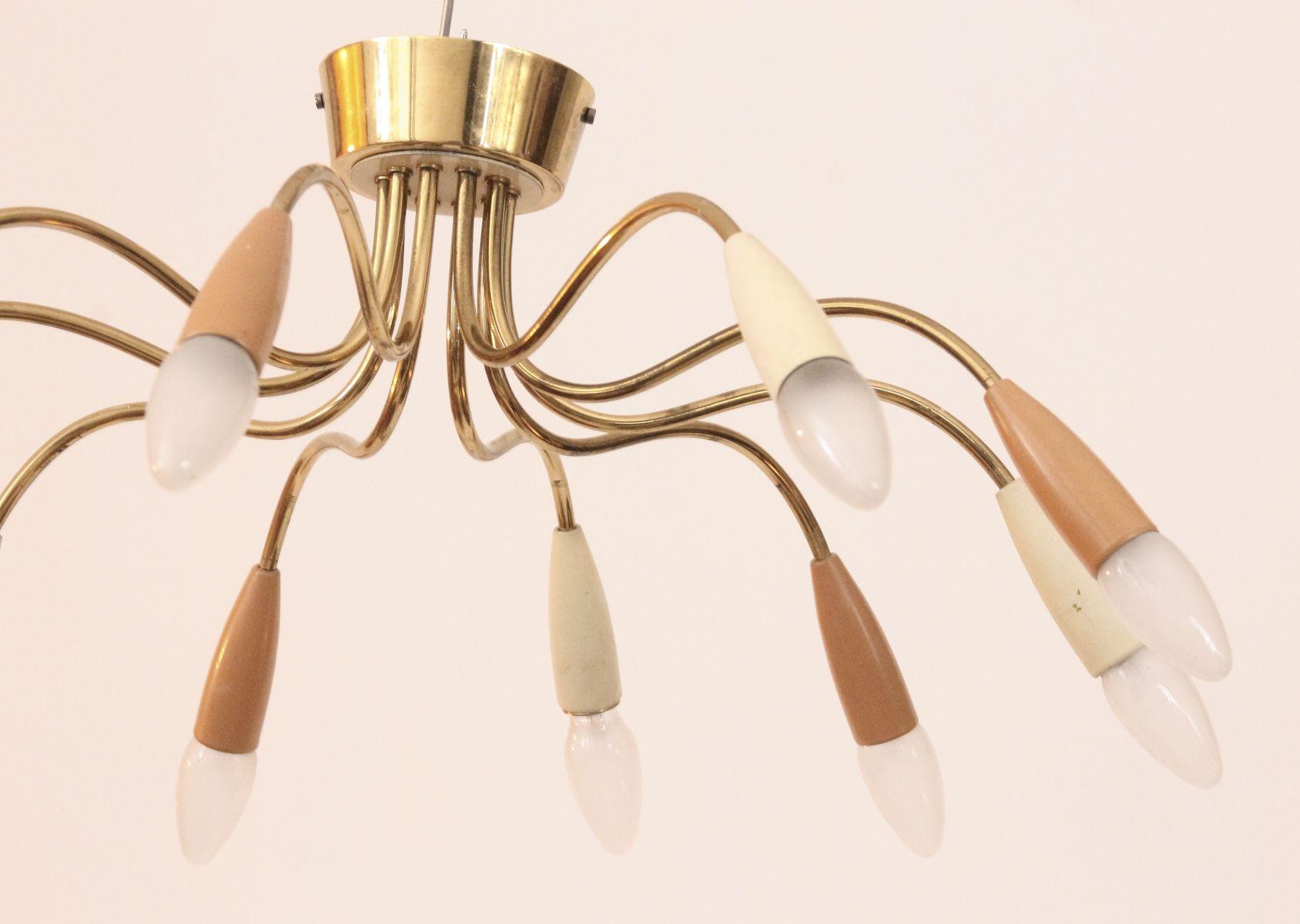 deutsche mid century sputnik lampe aus messing bei pamono. Black Bedroom Furniture Sets. Home Design Ideas