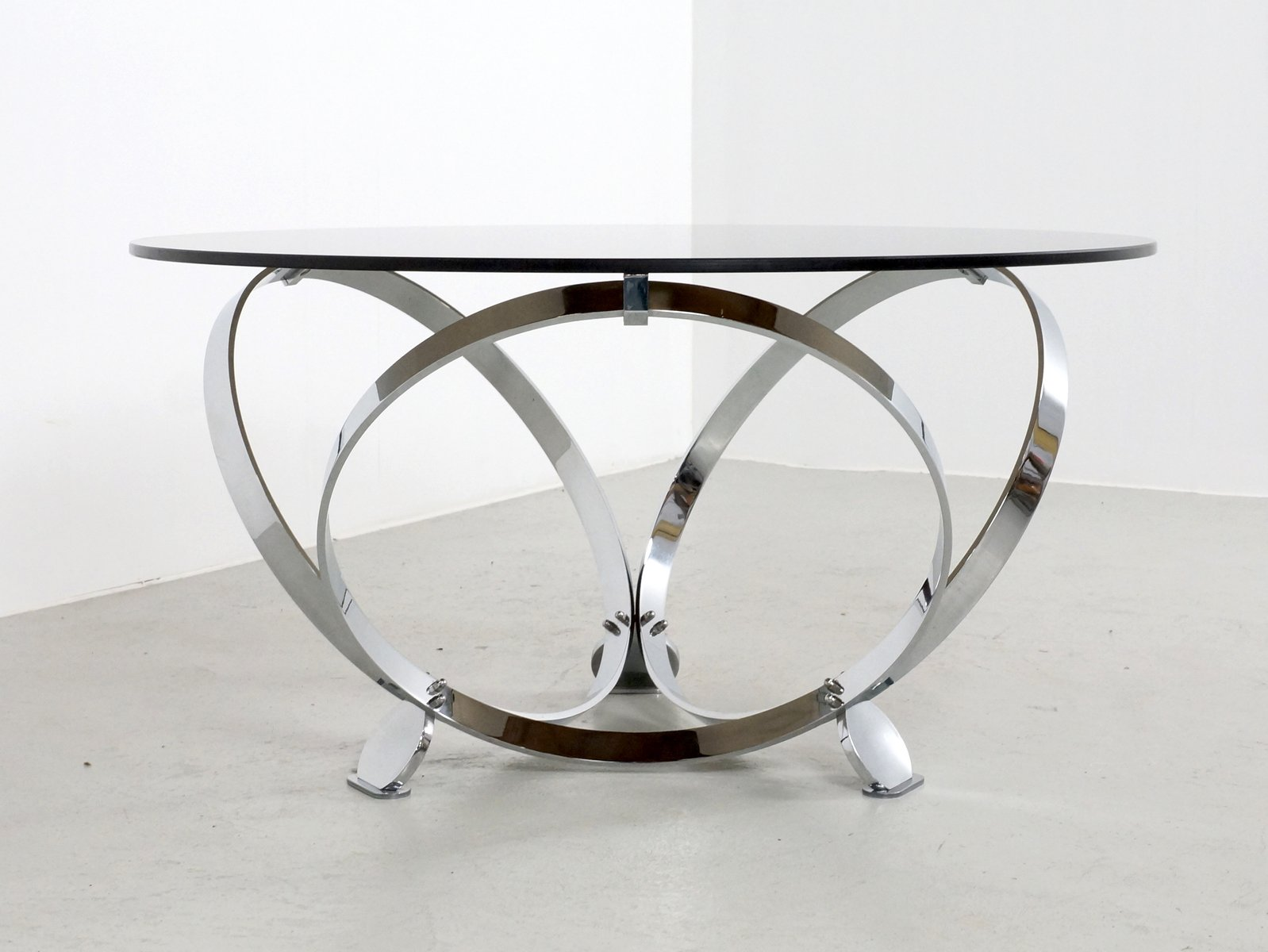 Glass And Chrome Coffee Table Round Glass Designs
