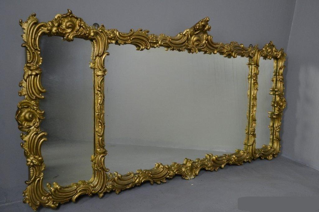 Specchio Da Camino Grande Antico In Stile Rococ In