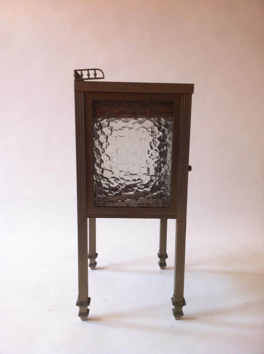 spanischer art deco messing nickel glas beistelltisch. Black Bedroom Furniture Sets. Home Design Ideas