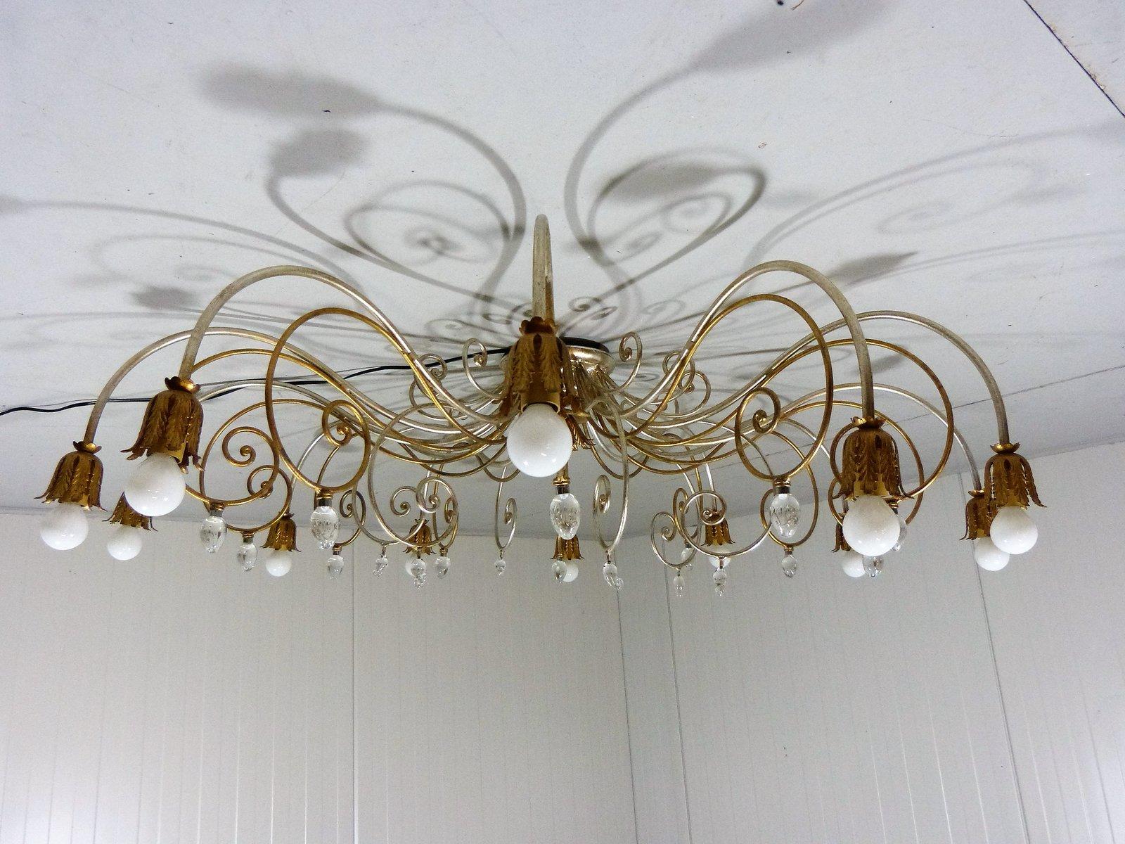 Large vintage italian hollywood regency style chandelier for sale at large vintage italian hollywood regency style chandelier mozeypictures Choice Image