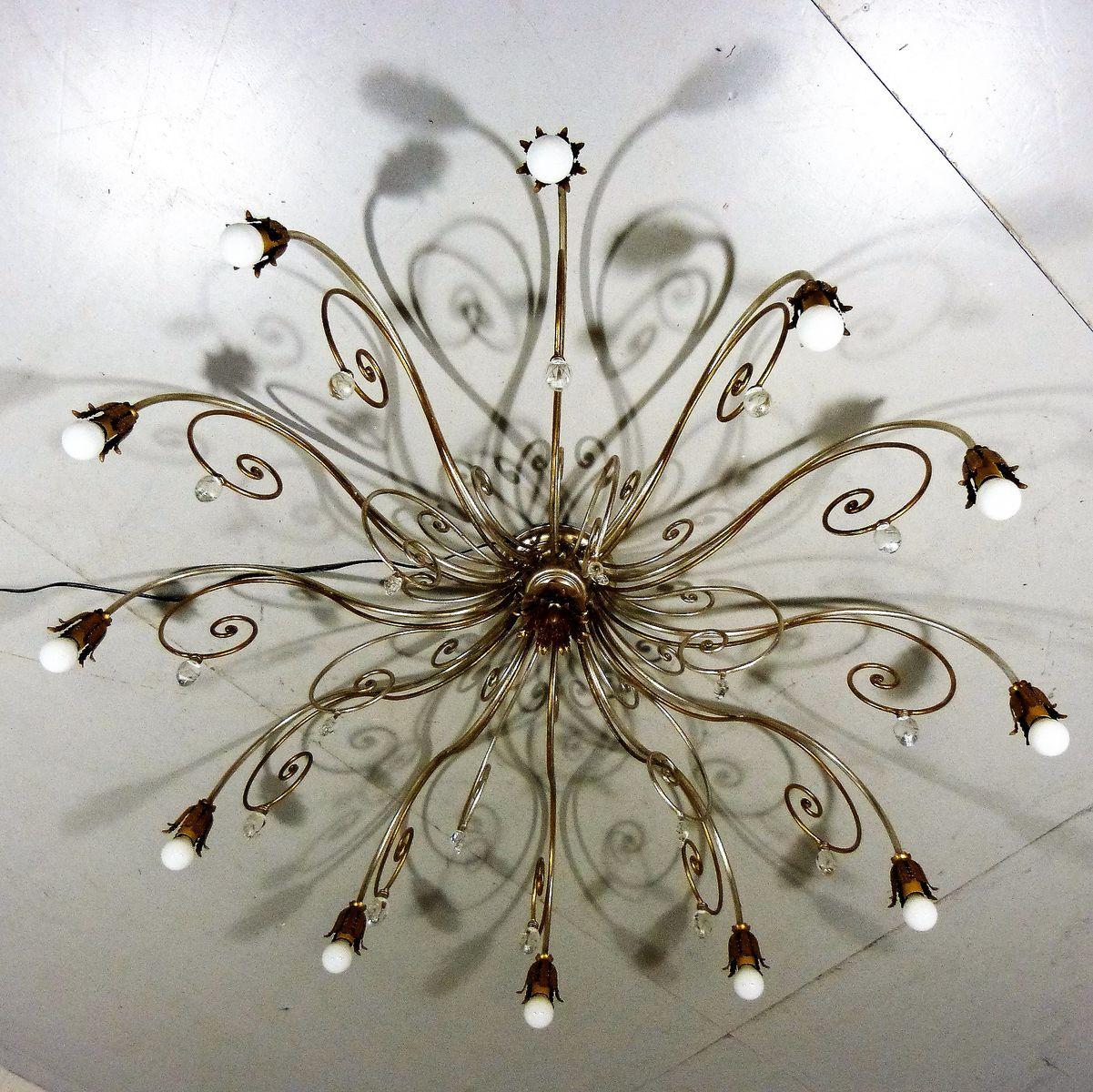 Large vintage italian hollywood regency style chandelier for sale at large vintage italian hollywood regency style chandelier arubaitofo Image collections