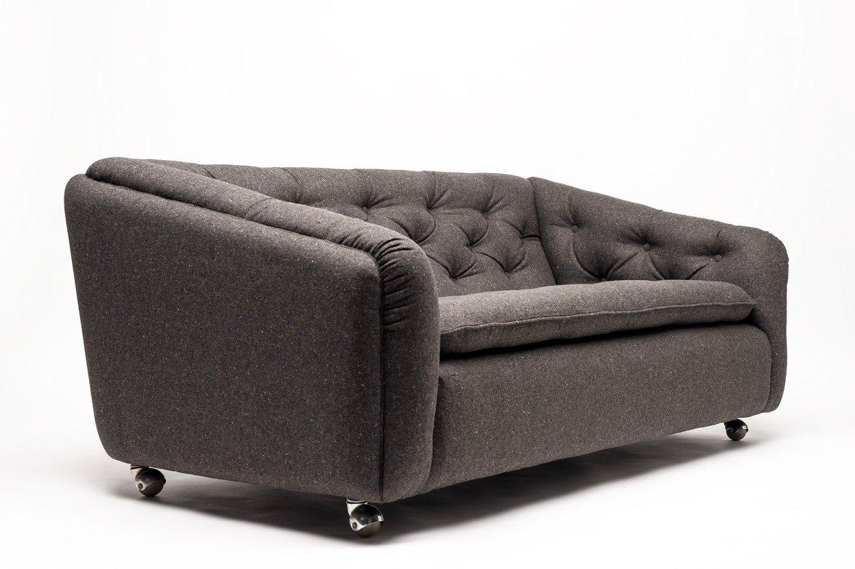 canap vintage mod le c610 deux places par geoffrey. Black Bedroom Furniture Sets. Home Design Ideas