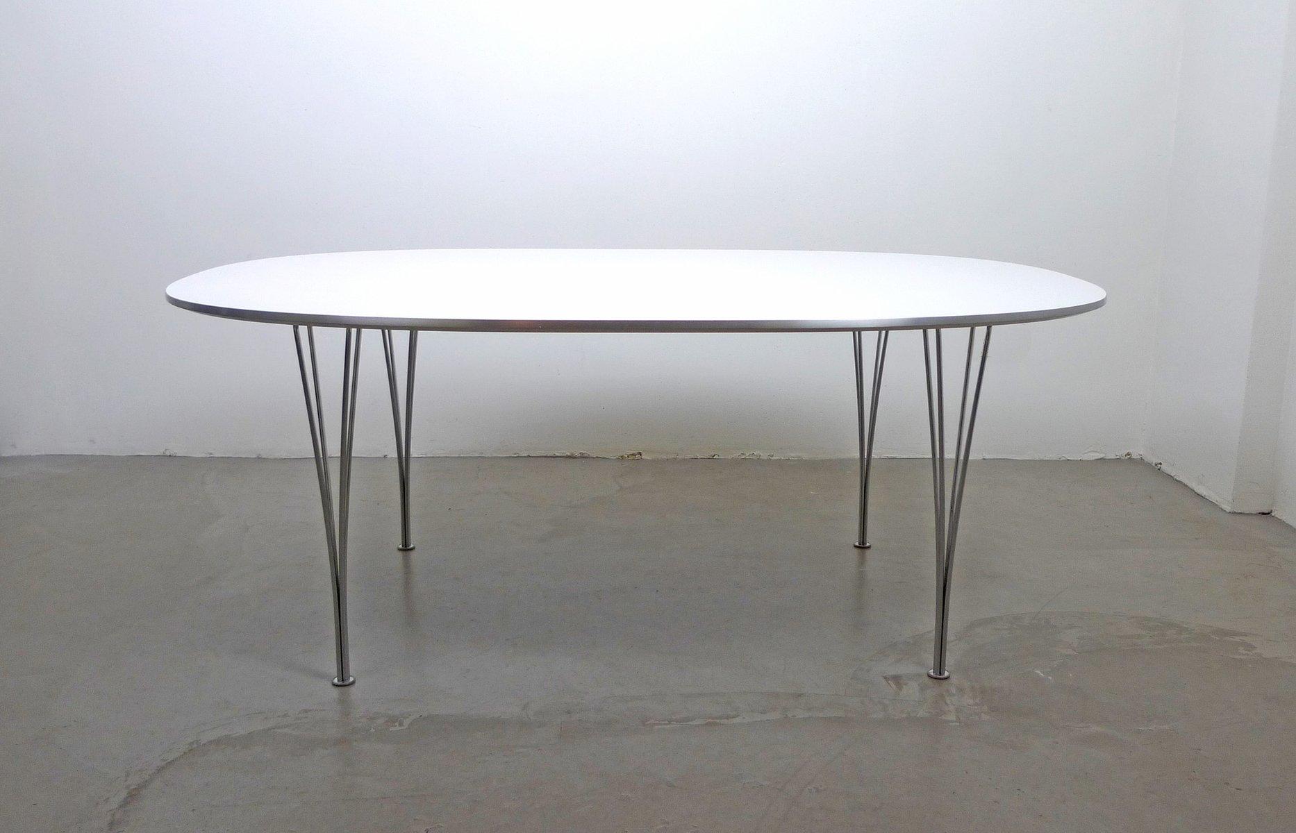 Skandinavischer Moderner Elliptical Tisch Von Piet Hein, Bruno Mathsson Und  Arne Jacobsen Für Fritz Hansen, 1968 Images