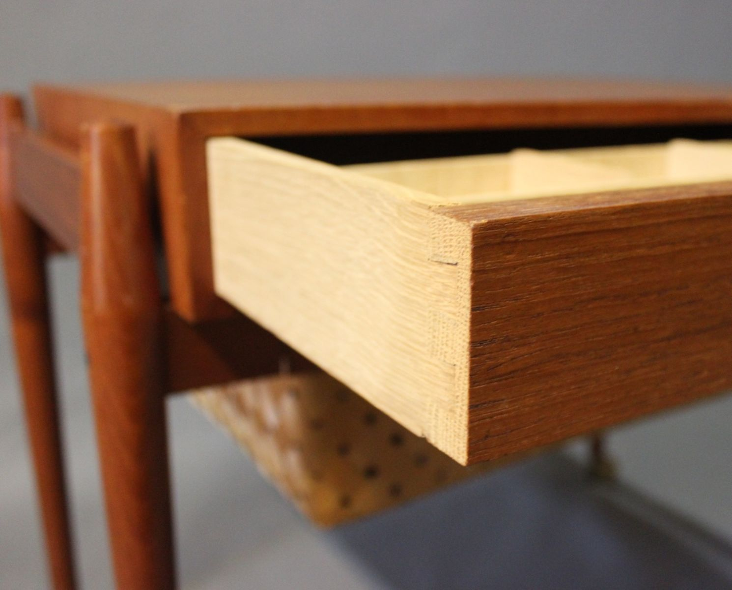 Danish Small Teak Sewing Table, 1960s for sale at Pamono