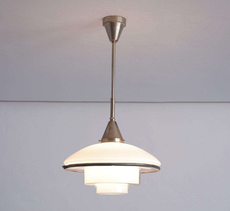 vintage glas h ngeleuchte von otto m ller f r sistrah licht bei pamono kaufen. Black Bedroom Furniture Sets. Home Design Ideas