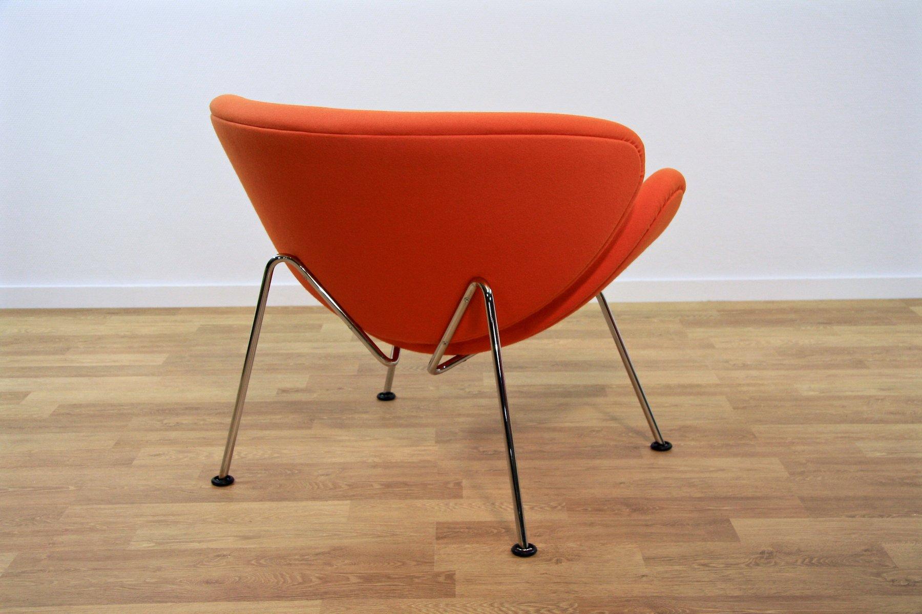 fauteuil slice f 437 orange par pierre paulin pour artifort 1970s en vente sur pamono. Black Bedroom Furniture Sets. Home Design Ideas