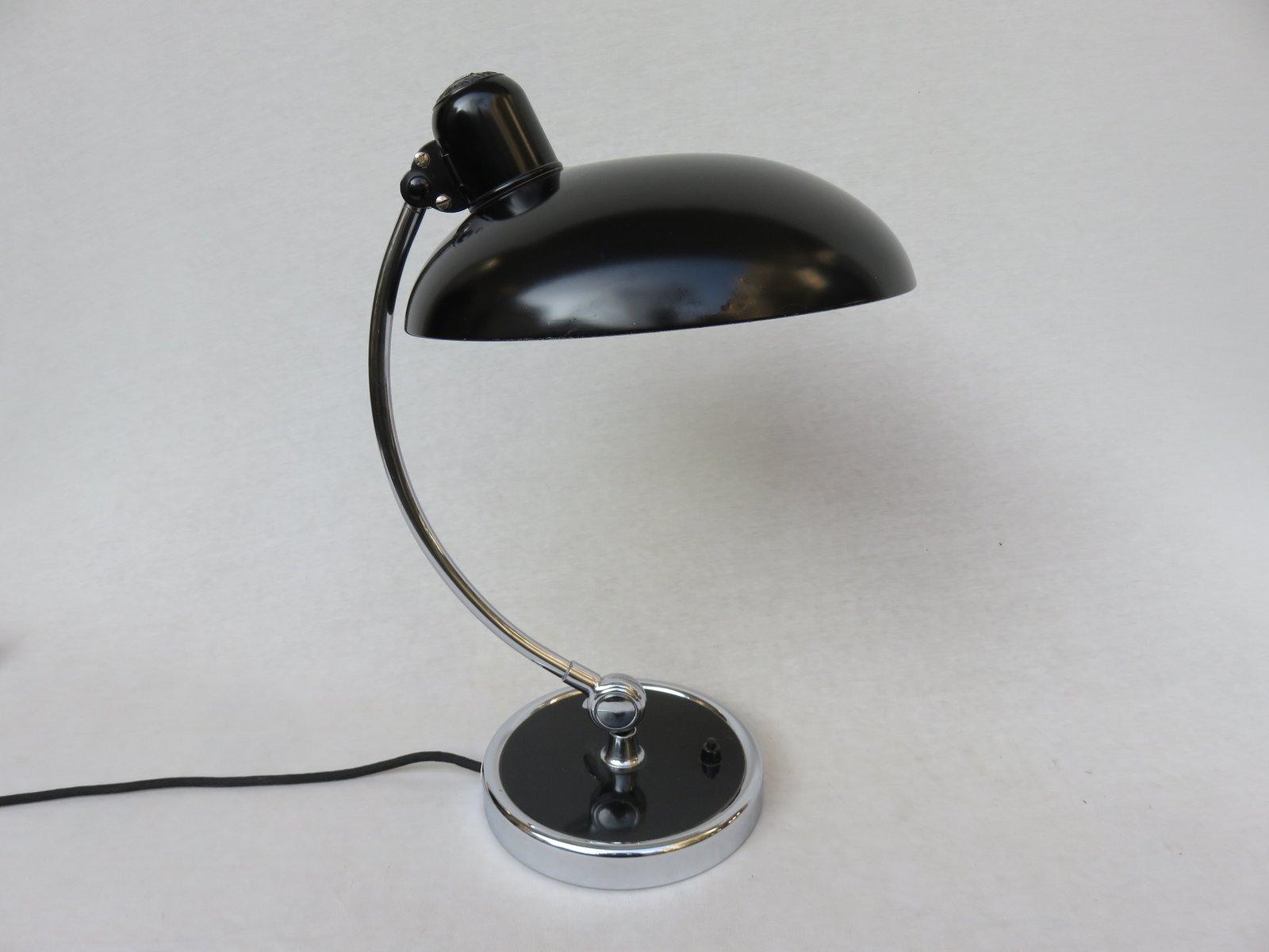 schwarze schreibtischlampe von christian dell f r kaiser idell 1930er bei pamono kaufen. Black Bedroom Furniture Sets. Home Design Ideas