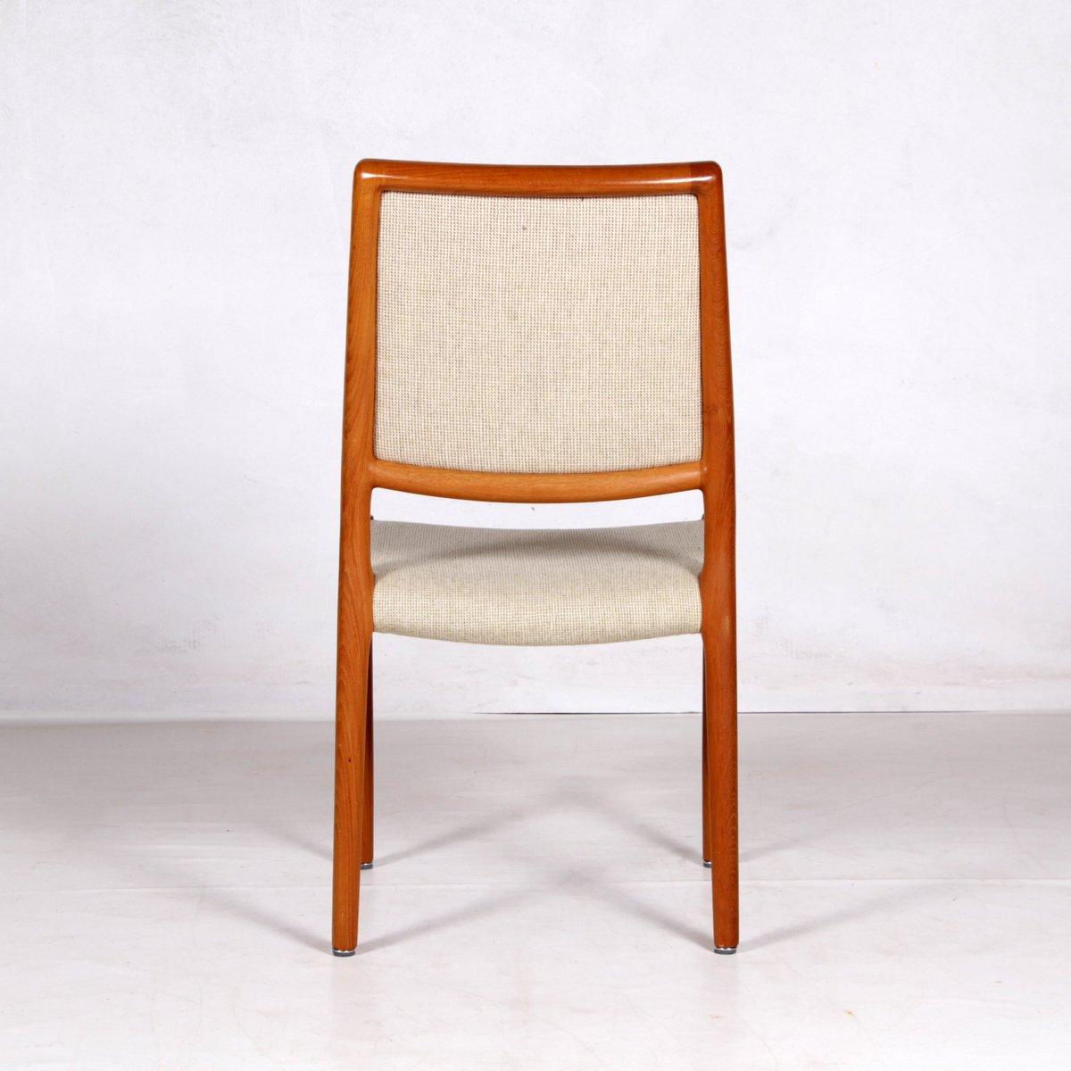 st hle aus teakholz stoff von niels otto m ller f r j l. Black Bedroom Furniture Sets. Home Design Ideas