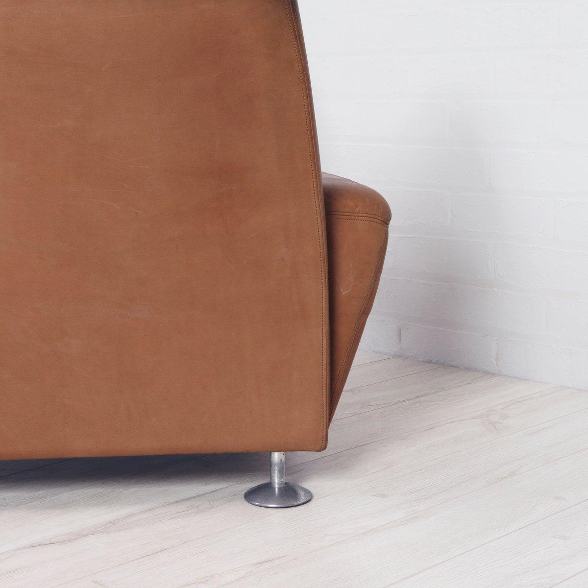 hellbrauner vintage ledersessel bei pamono kaufen. Black Bedroom Furniture Sets. Home Design Ideas