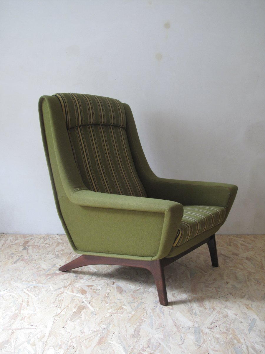 d nischer gr ner mid century sessel 1960er bei pamono kaufen. Black Bedroom Furniture Sets. Home Design Ideas