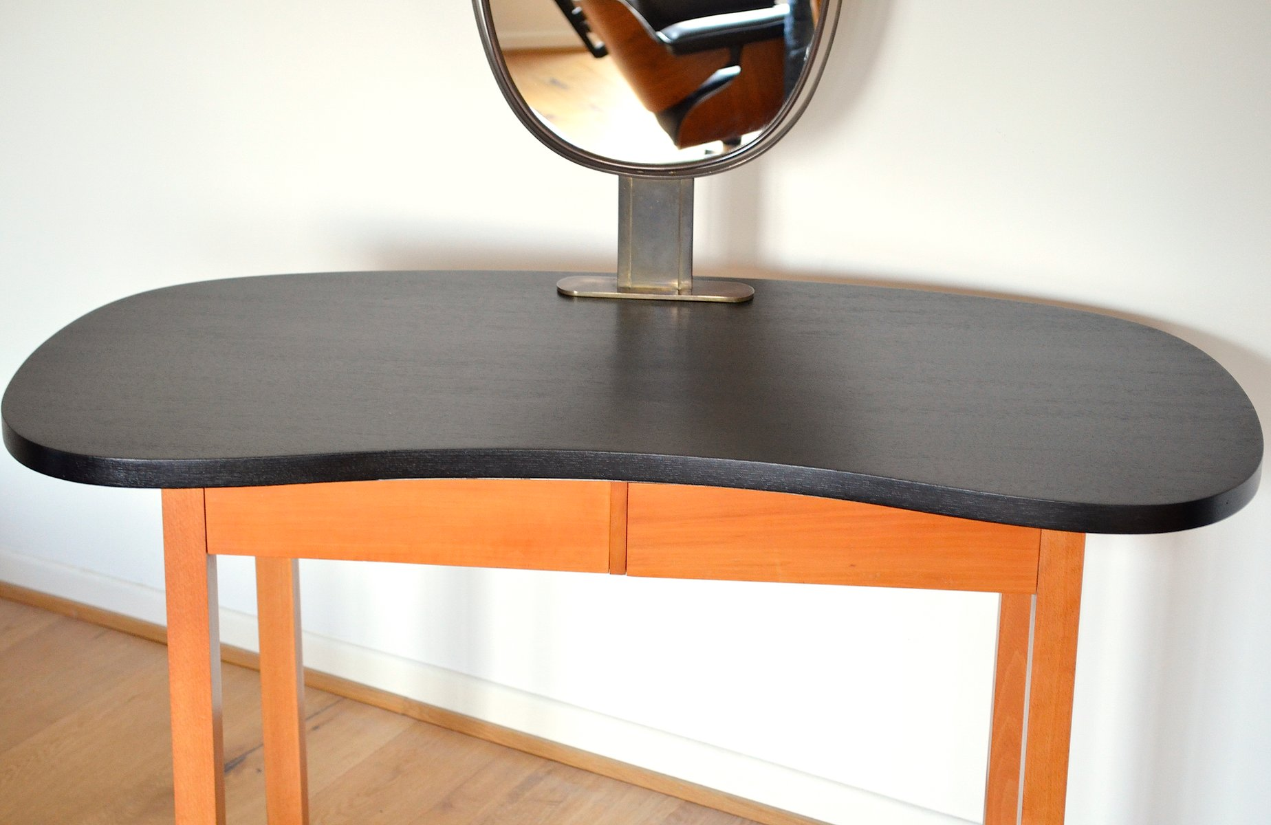 Vintage Kidney Shaped Dressing Table 1950s for sale at Pamono