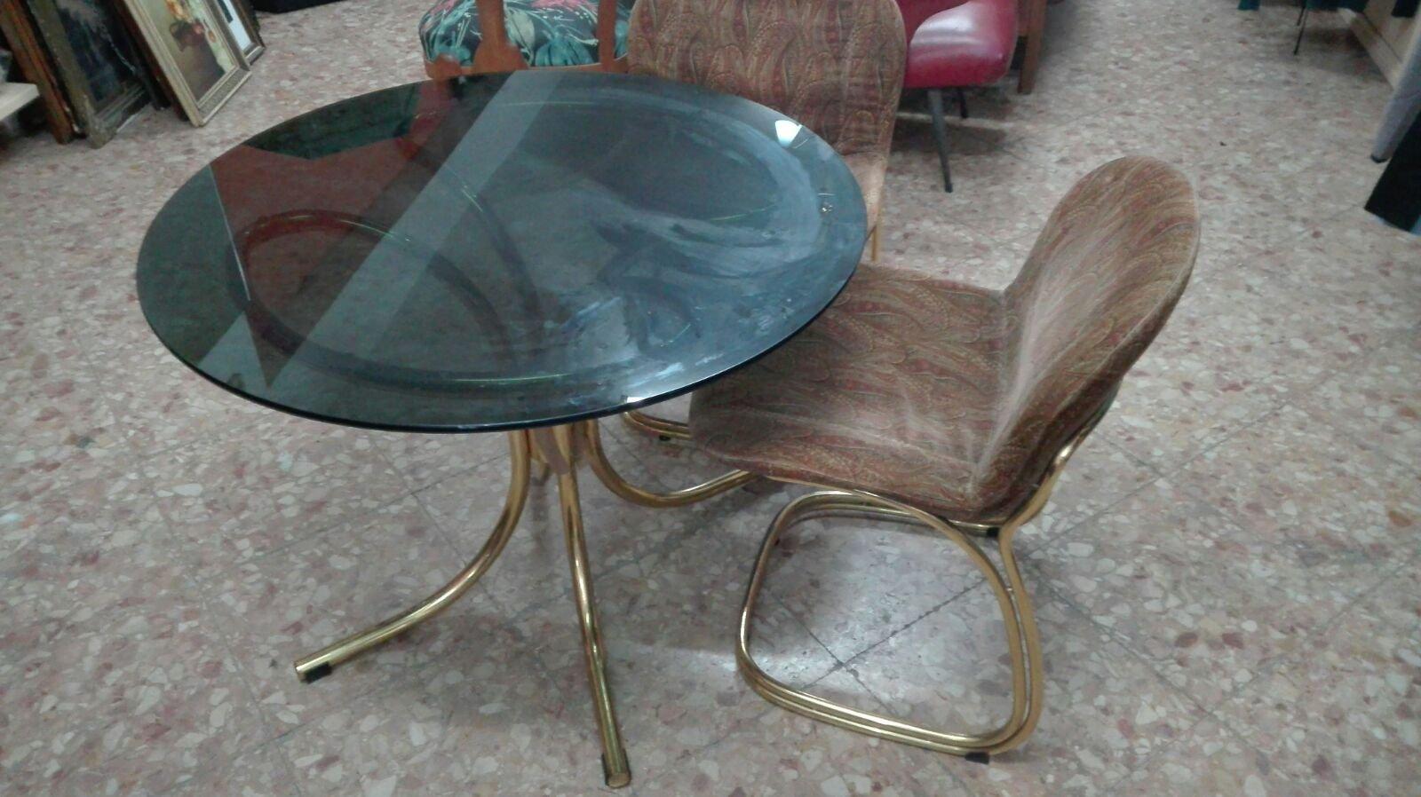tisch und st hle von gastone rinaldi f r rima 1970er bei pamono kaufen. Black Bedroom Furniture Sets. Home Design Ideas