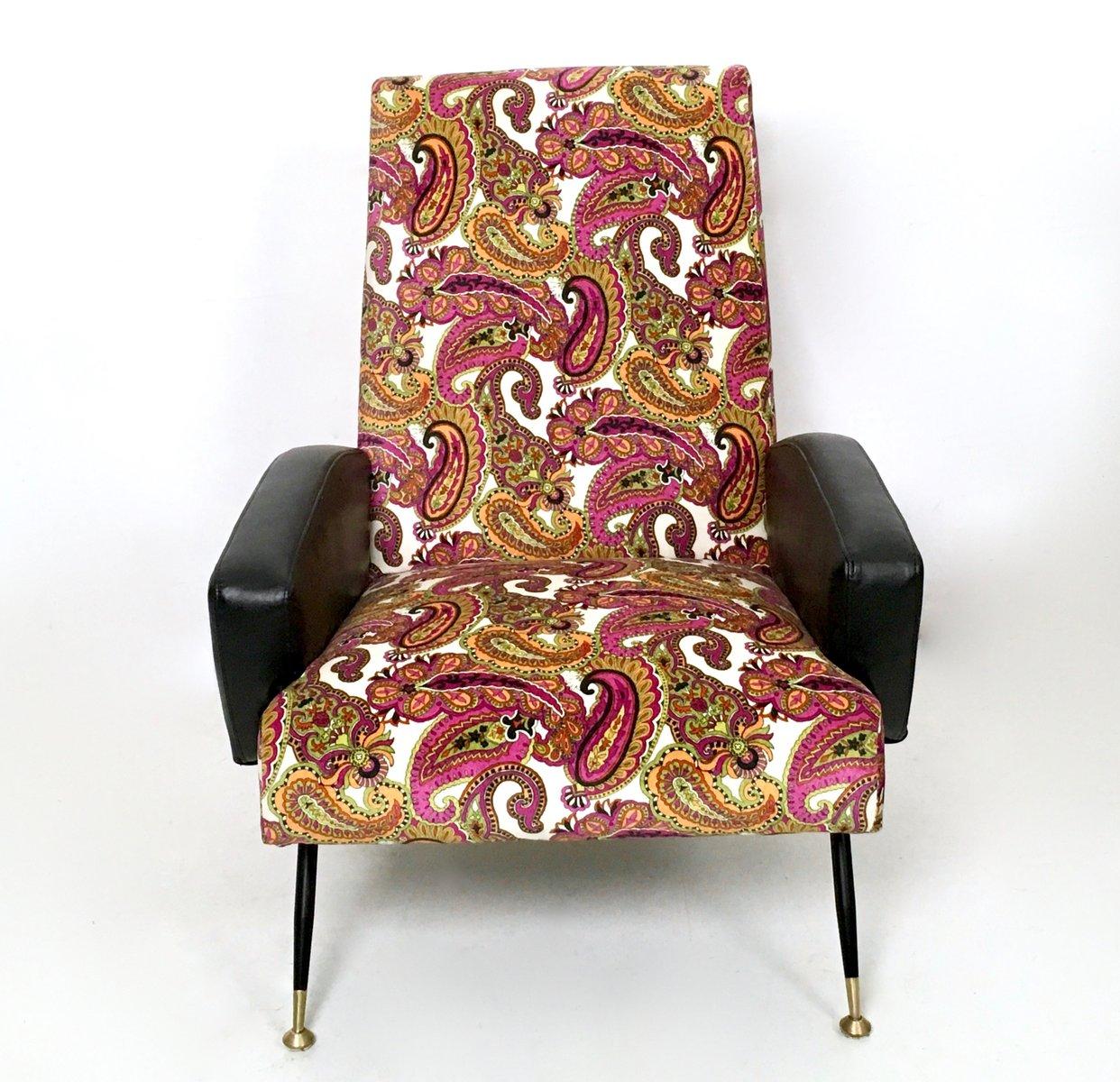 Italienische sessel aus samt skai 1950er 2er set bei for Sessel italienisches design