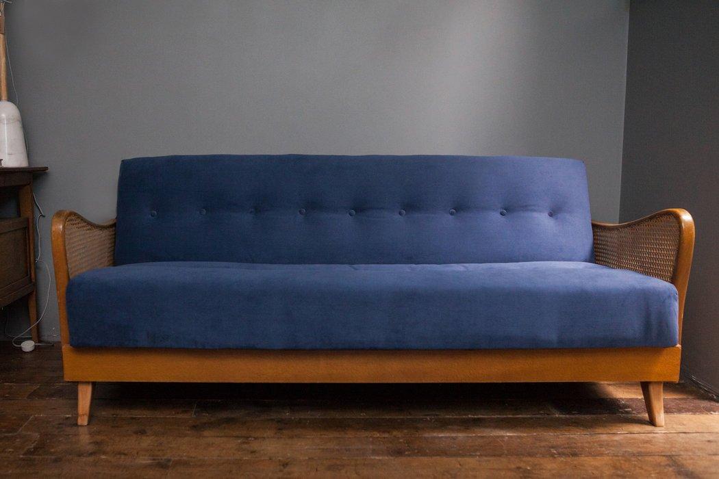 lila varese samt schlafsofa 1950er bei pamono kaufen. Black Bedroom Furniture Sets. Home Design Ideas
