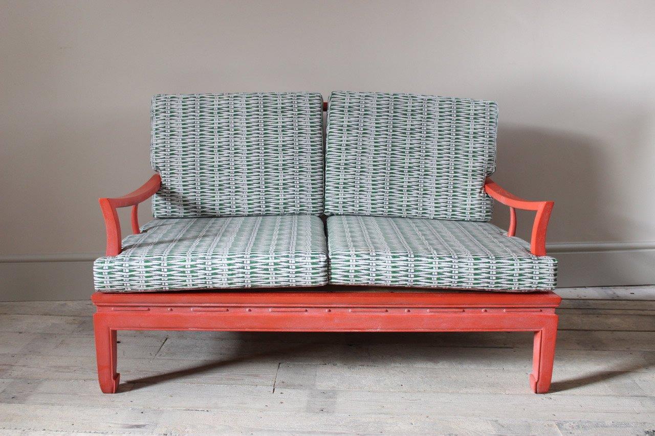 chinese coral sofa 1970s chinese coral sofa 1970s for sale at pamono  rh   pamono