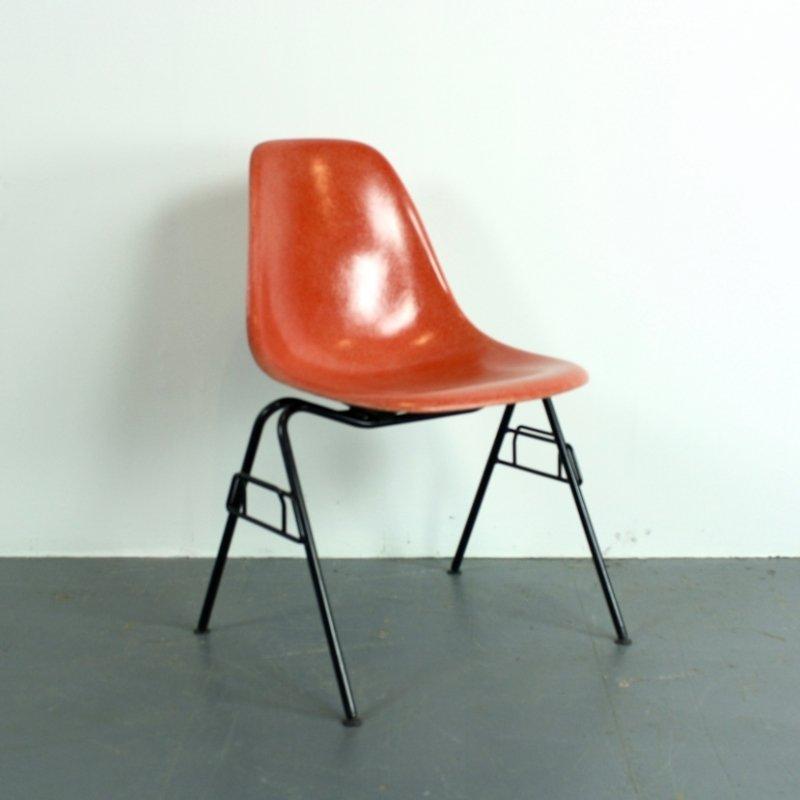 dss stuhl in blutorange von charles ray eames fr herman miller - Herman Miller Schreibtischsthle