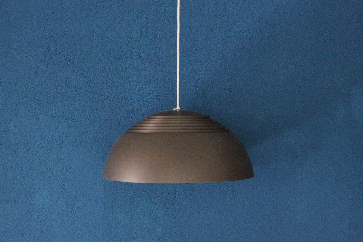 vintage h ngelampe in grau braun von arne jacobsen f r louis poulsen bei pamono kaufen. Black Bedroom Furniture Sets. Home Design Ideas