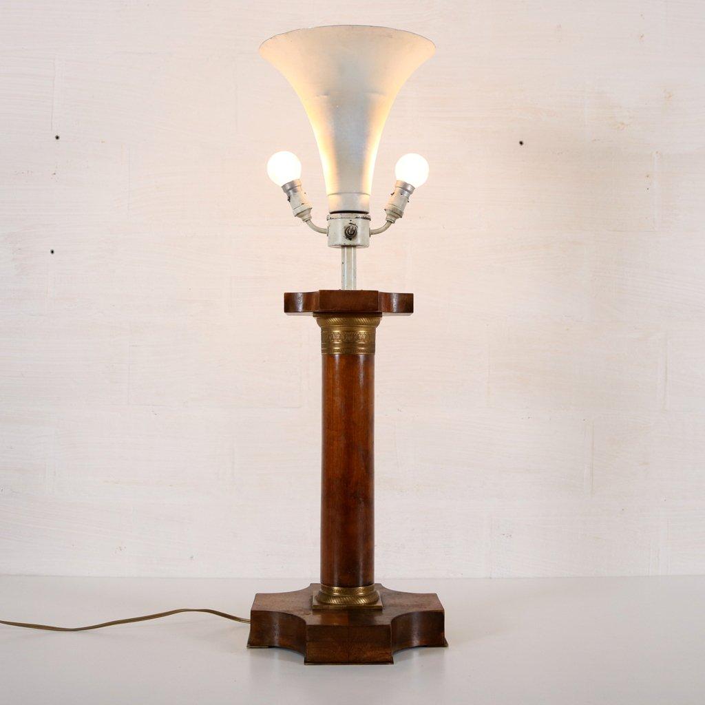 Vintage art deco lampe mit korinthischer s ule bei pamono for Classic art deco