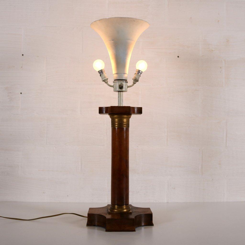 Beautiful Vintage Art Deco Lamp With Corinthian Pillar For Sale At Pamono