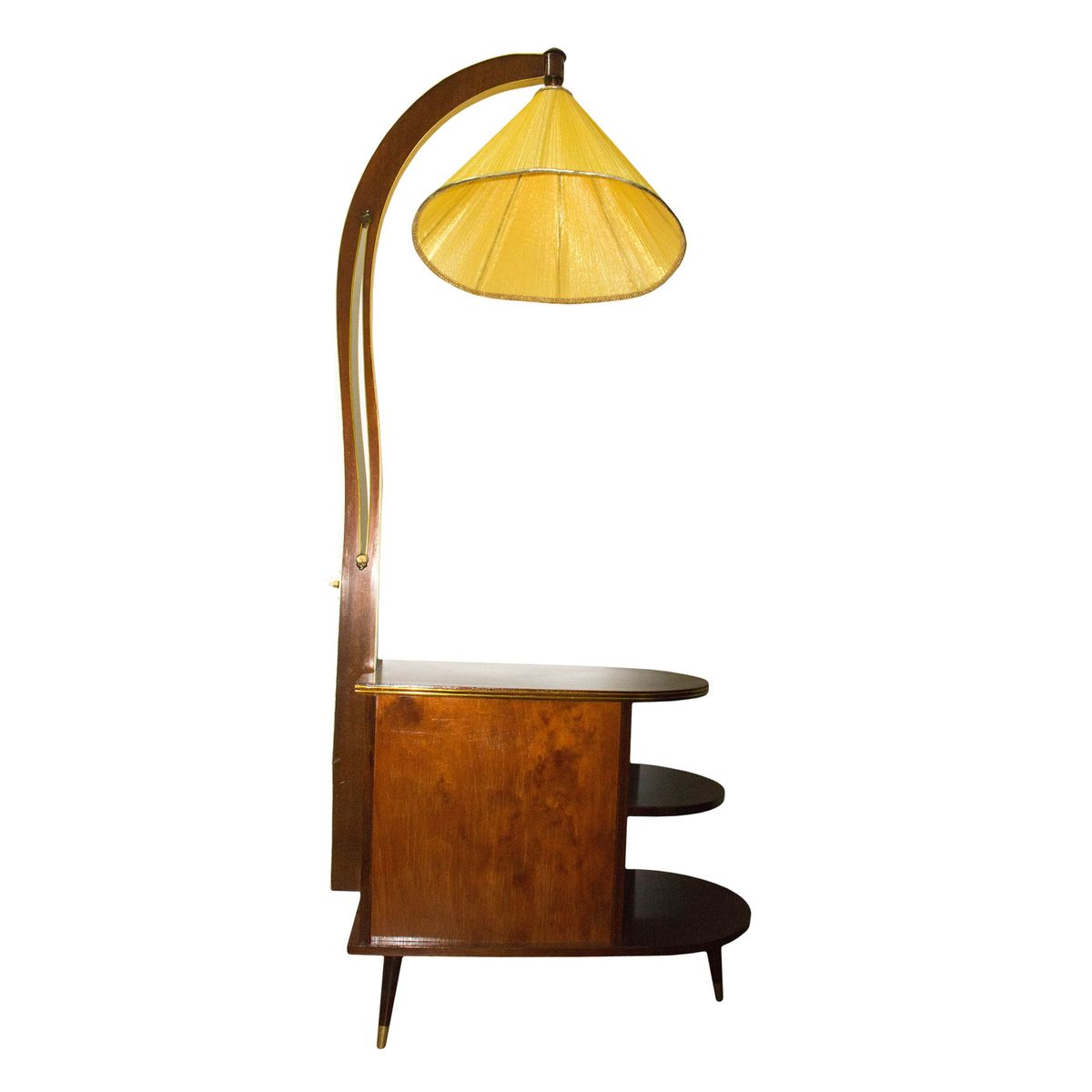 Vintage Art Deco Minibar with Lamp for sale at Pamono