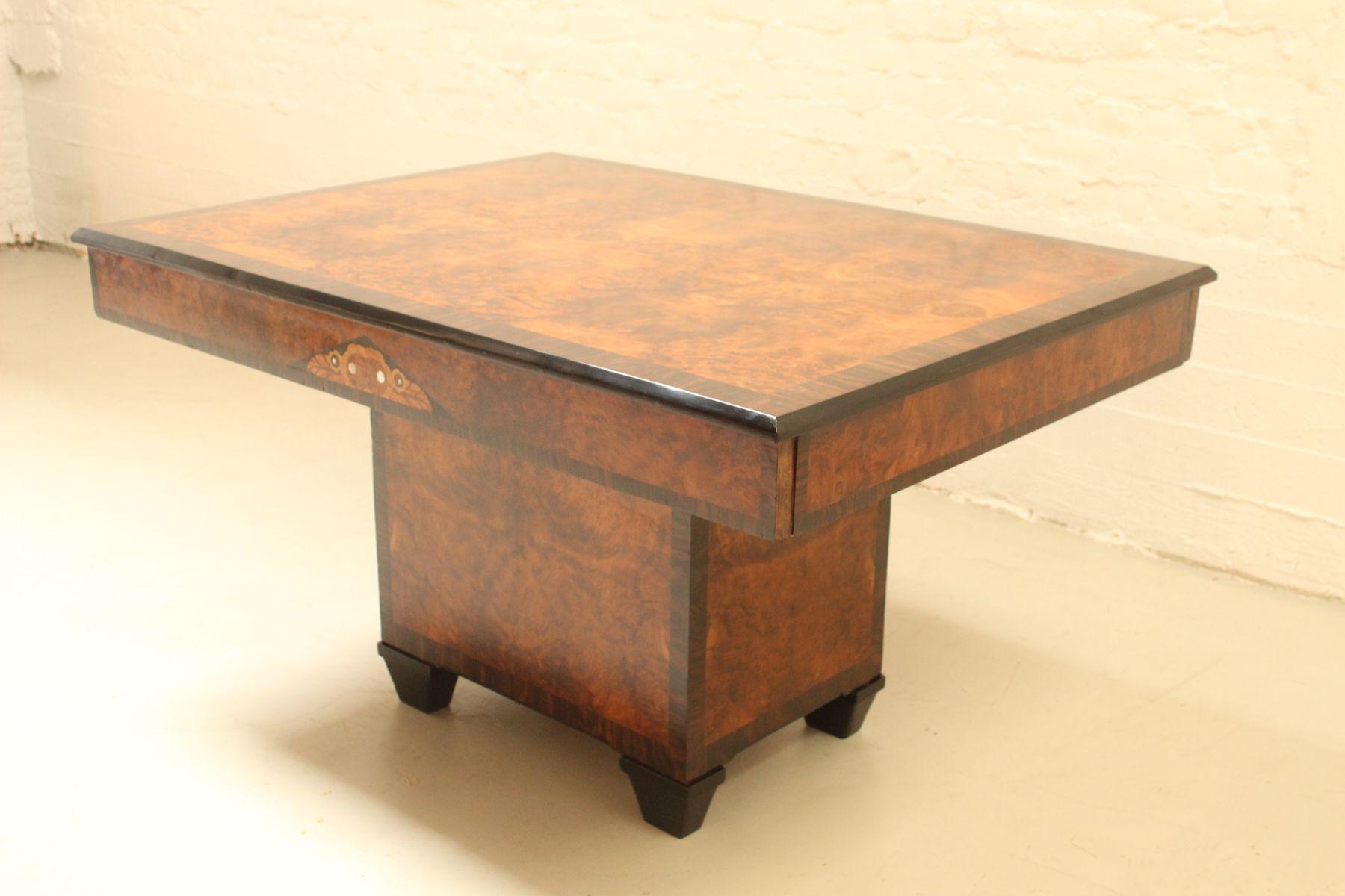 art deco esstisch 1920er bei pamono kaufen. Black Bedroom Furniture Sets. Home Design Ideas