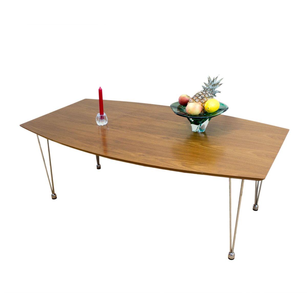 norwegischer couchtisch aus teak stahl 1960er bei. Black Bedroom Furniture Sets. Home Design Ideas