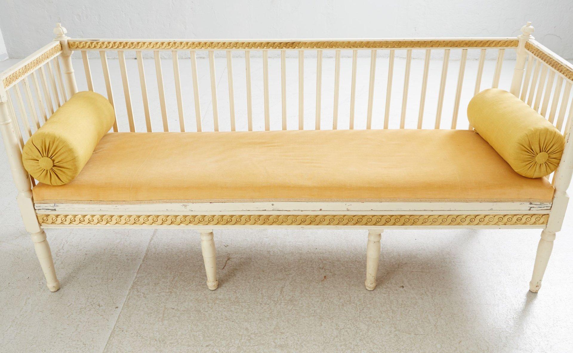 antikes schwedisches gustavianisches sofa 1790er bei. Black Bedroom Furniture Sets. Home Design Ideas