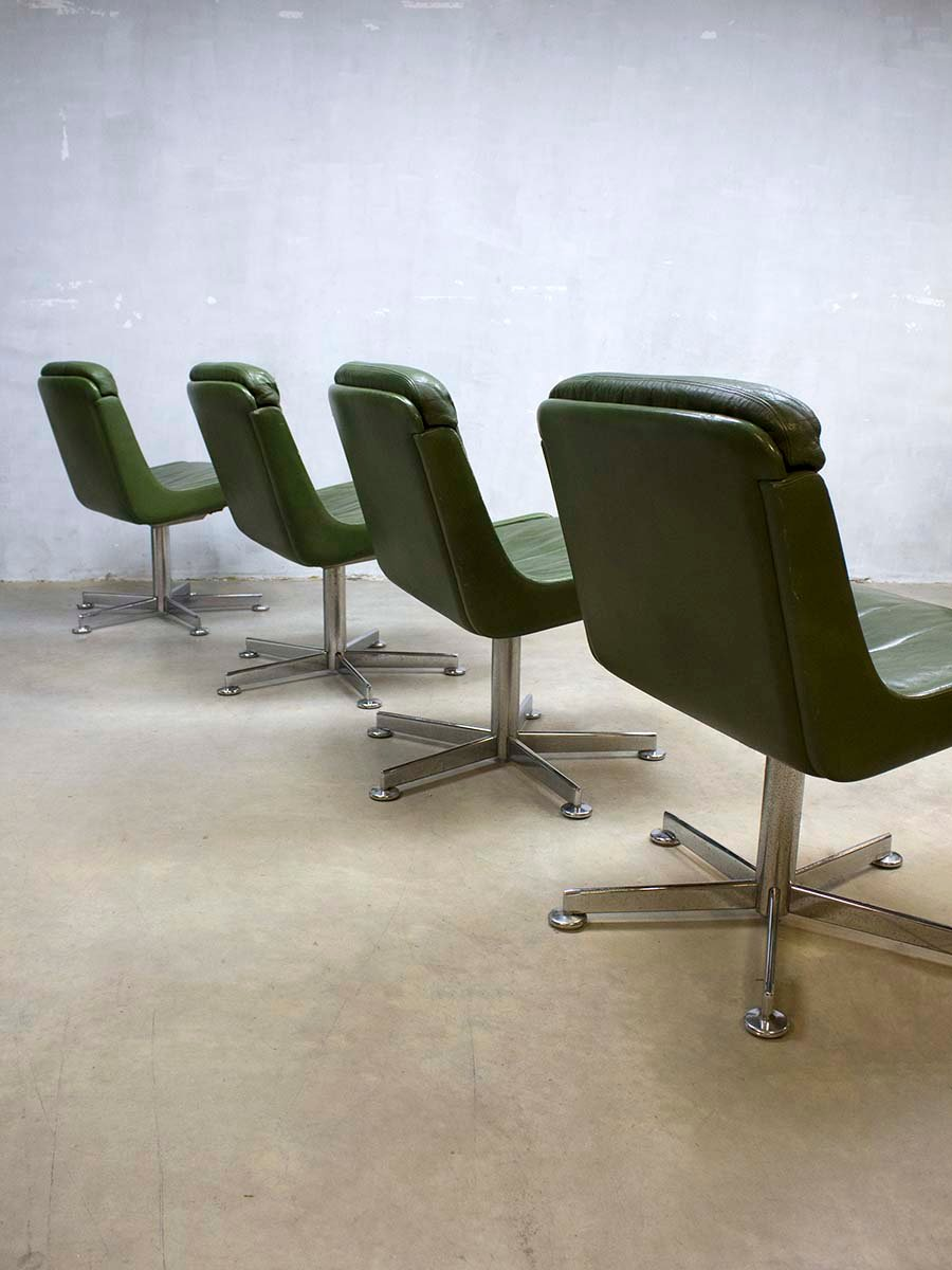 Vintage Office Chair With Olive Green Leather 5. $1,430.00. Price Per Piece