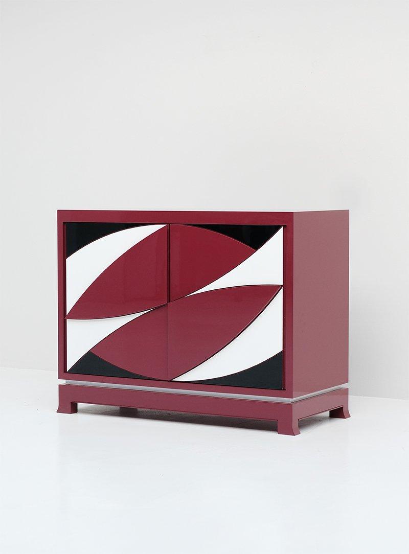 Vintage stereo cabinet by emiel veranneman for de coene for Sideboard 2 m lang