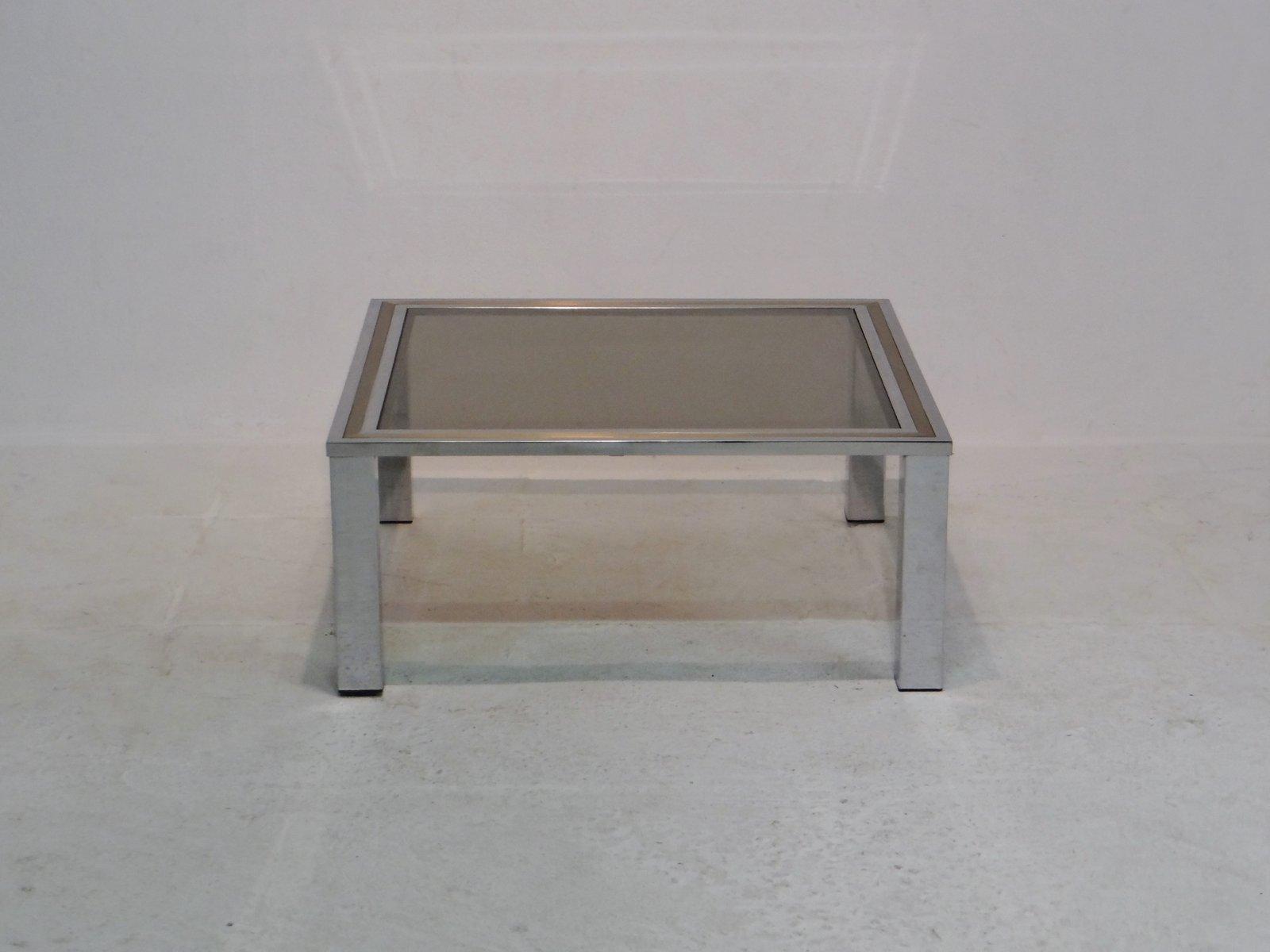 vintage couchtisch mit tischplatte aus rauchglas bei pamono kaufen. Black Bedroom Furniture Sets. Home Design Ideas