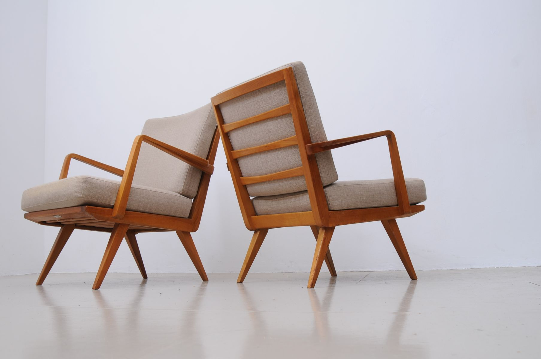 Mid Century Armchairs From Knoll Set Of 2