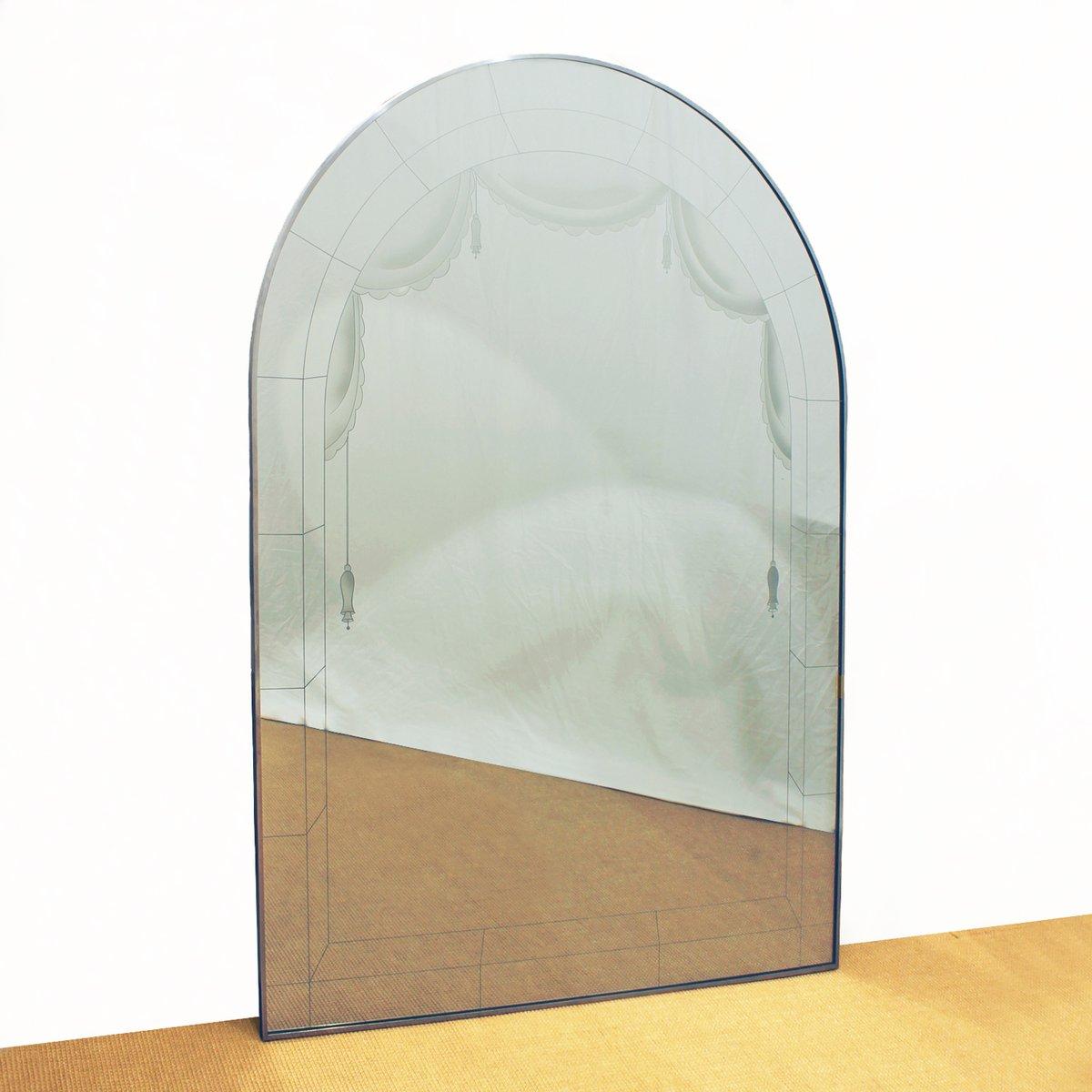 gro er art deco spiegel 1930er bei pamono kaufen. Black Bedroom Furniture Sets. Home Design Ideas