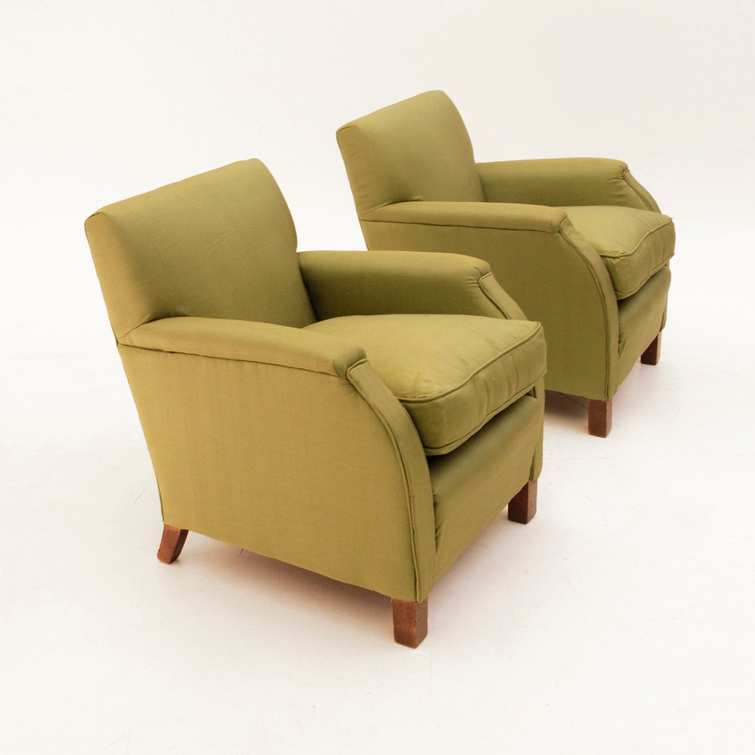 Italian Green Armchairs 1930s Set Of 2 For Sale At Pamono