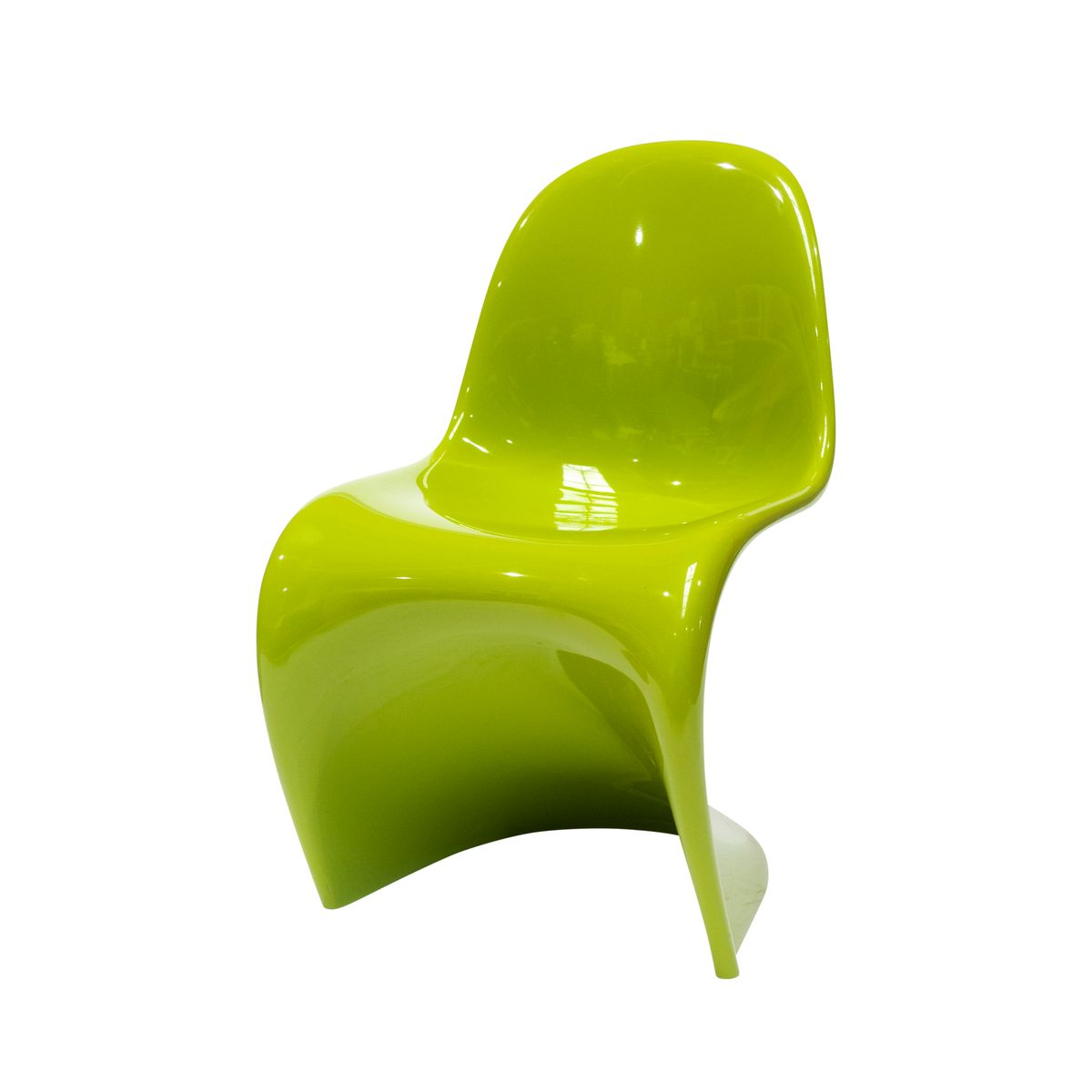 The Panton Chair in Chartreuse by Verner Panton for Vitra, 2006 ...