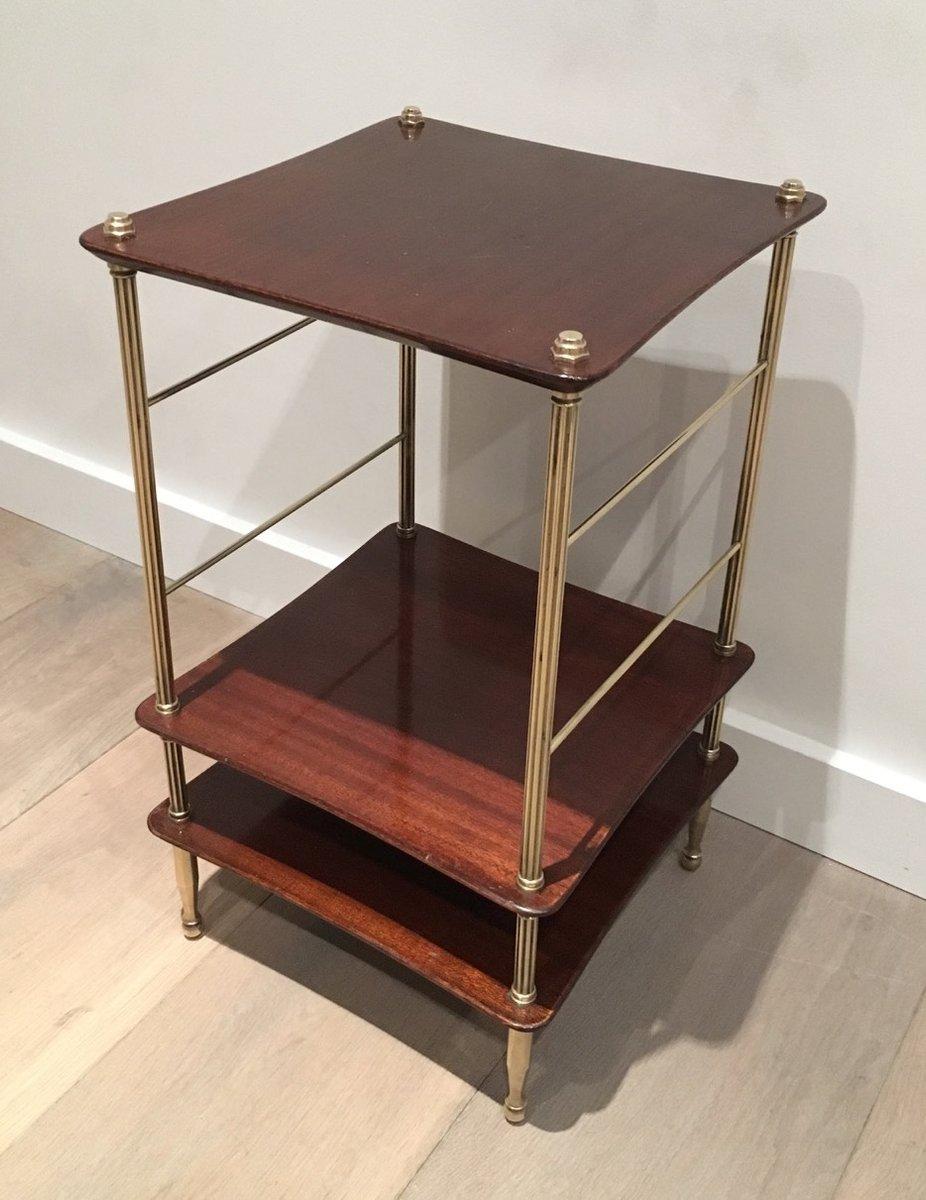 kleiner couchtisch aus messing holz 1940er bei pamono kaufen. Black Bedroom Furniture Sets. Home Design Ideas