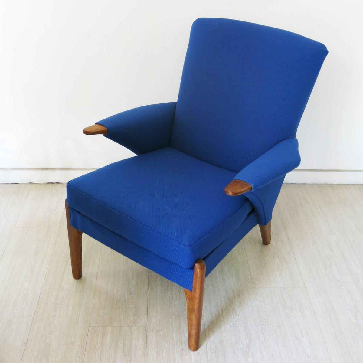 fauteuil vintage bleu de parker knoll angleterre 1960s en vente sur pamono. Black Bedroom Furniture Sets. Home Design Ideas