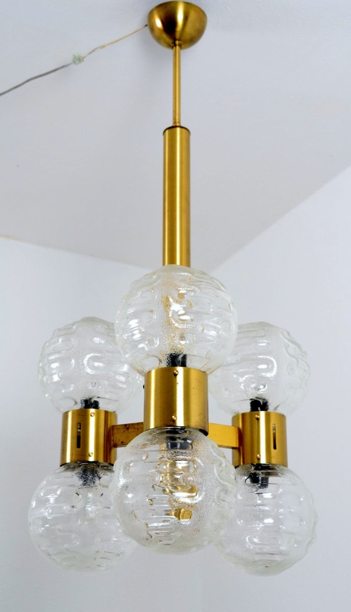 italienischer regency kronleuchter aus messing glas 1960er bei pamono kaufen. Black Bedroom Furniture Sets. Home Design Ideas