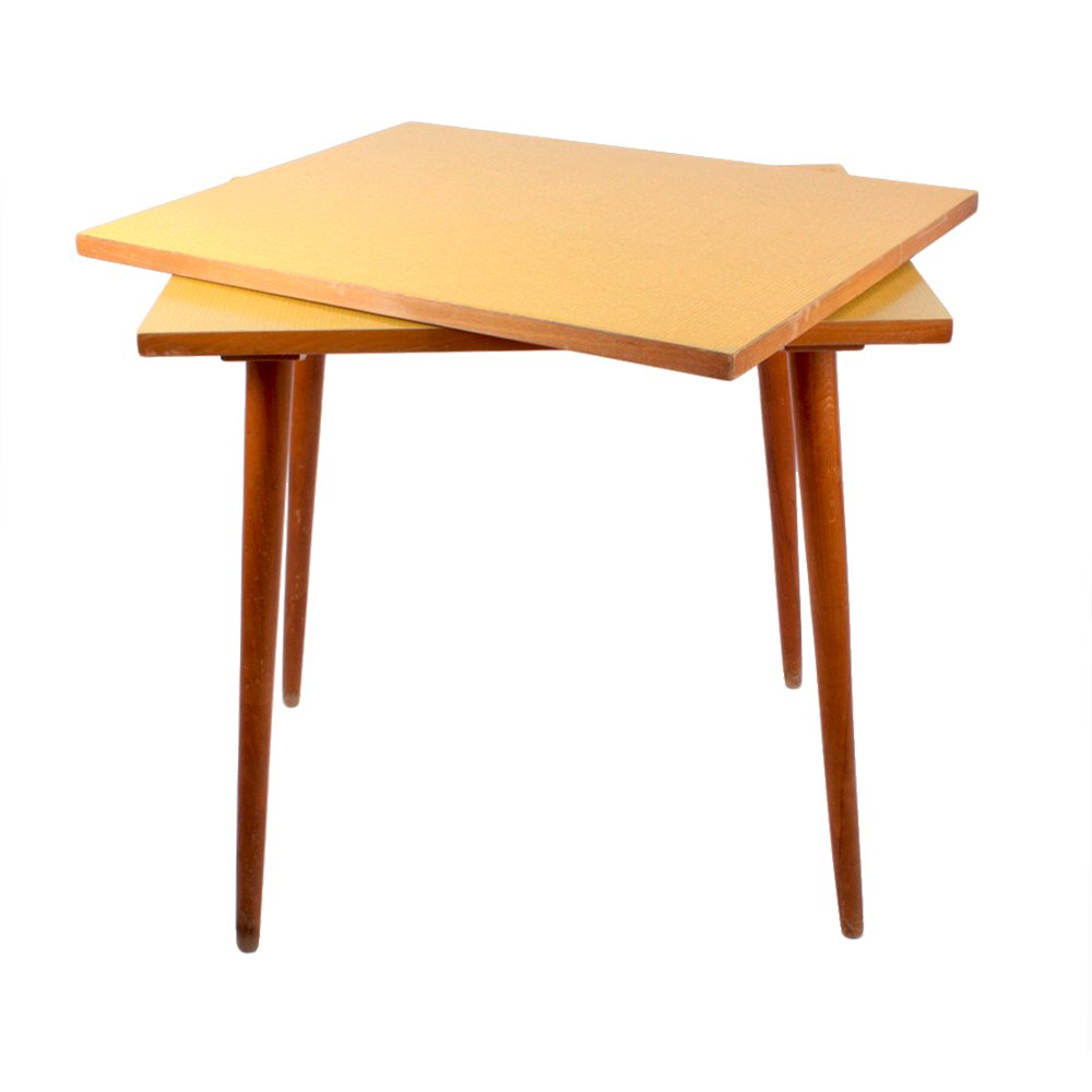 Czech Formica Side Table With Swivel Top 1960s