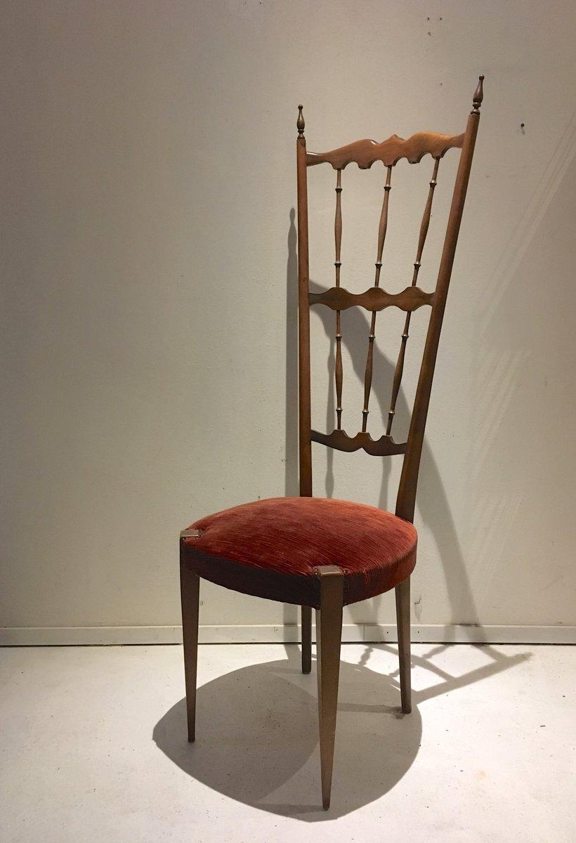 Sedia con schienale alto chiavari italia anni 39 40 in - Sedia di chiavari ...