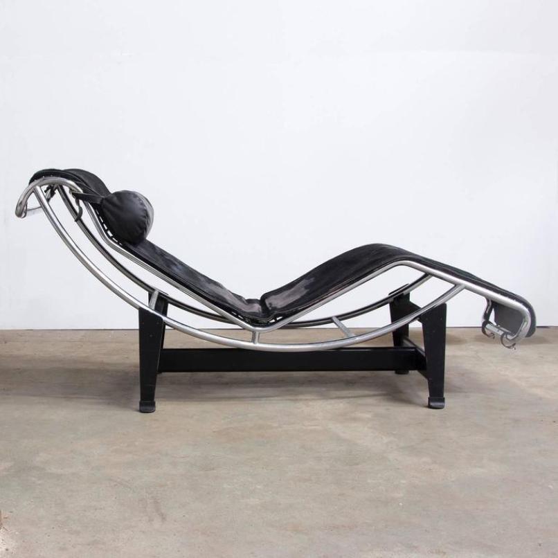 chaise longue lc4 par le corbusier pour cassina 1930s en vente sur pamono. Black Bedroom Furniture Sets. Home Design Ideas