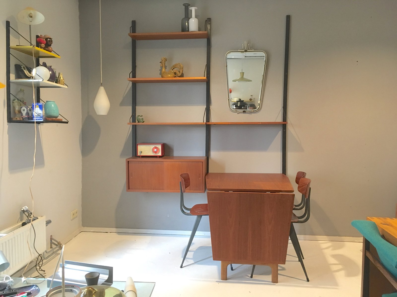 Mid Century Royal System Wall Unit with Table by Paul Cadovius for