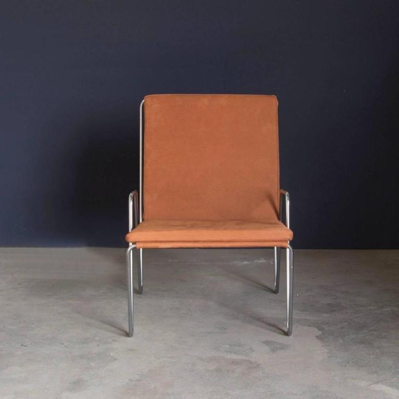 vintage bachelor stuhl aus wildleder von verner panton f r fritz hansen bei pamono kaufen. Black Bedroom Furniture Sets. Home Design Ideas