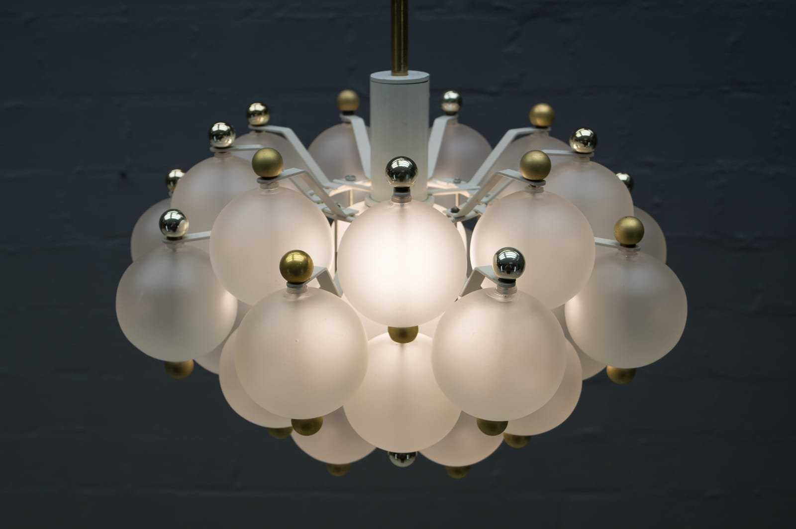 Austrian glass ball chandelier from kalmar 1960s for sale at pamono price per piece mozeypictures Images