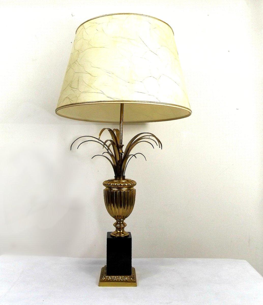 lampe de bureau feuille d ananas en laiton france 1970s en vente sur pamono. Black Bedroom Furniture Sets. Home Design Ideas
