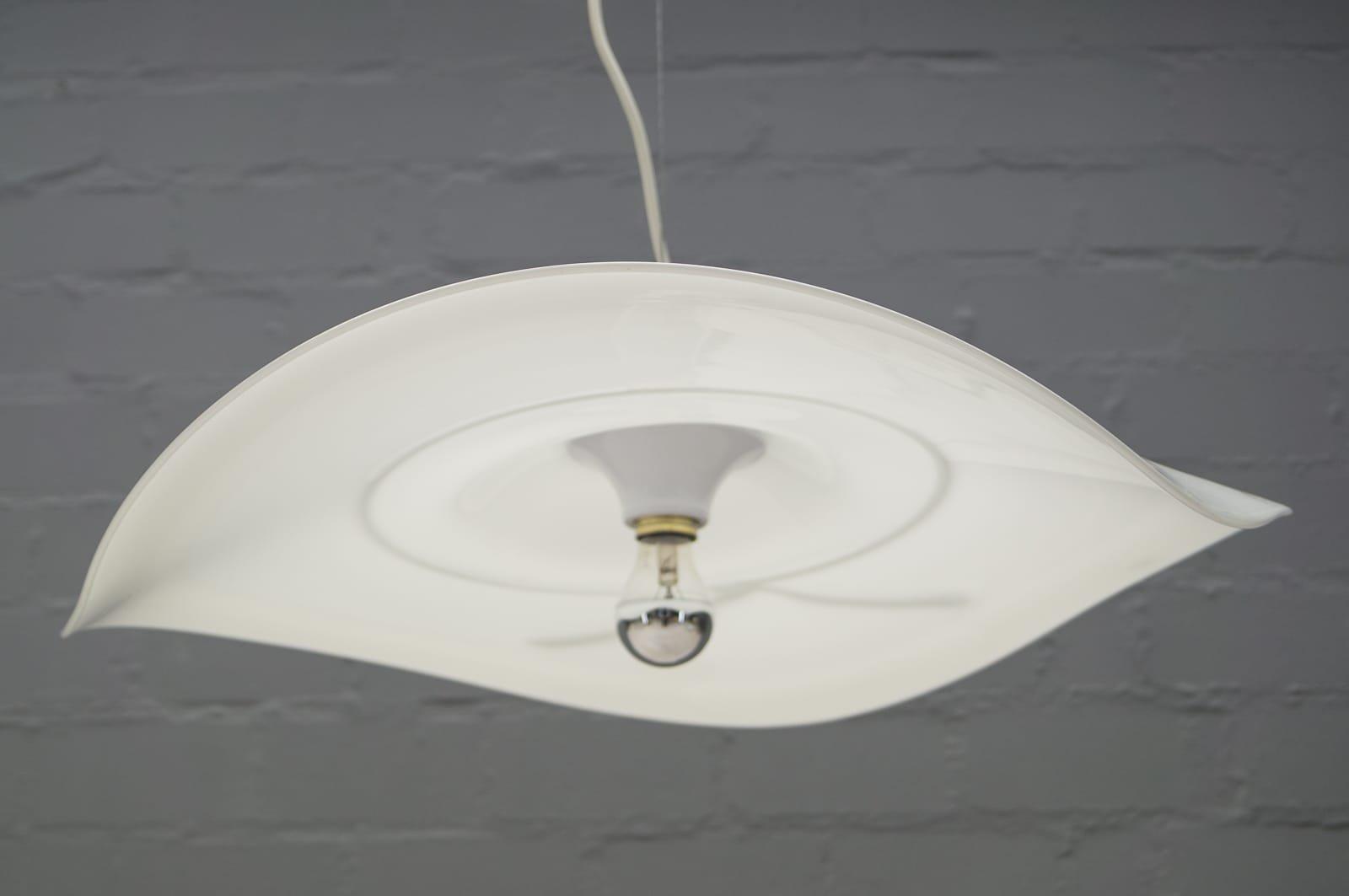 wei e vintage glas lampe von murano bei pamono kaufen. Black Bedroom Furniture Sets. Home Design Ideas